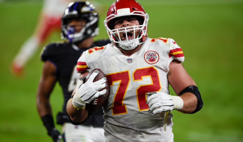 Eric Fisher had the best reaction to his touchdown grab vs. Ravens