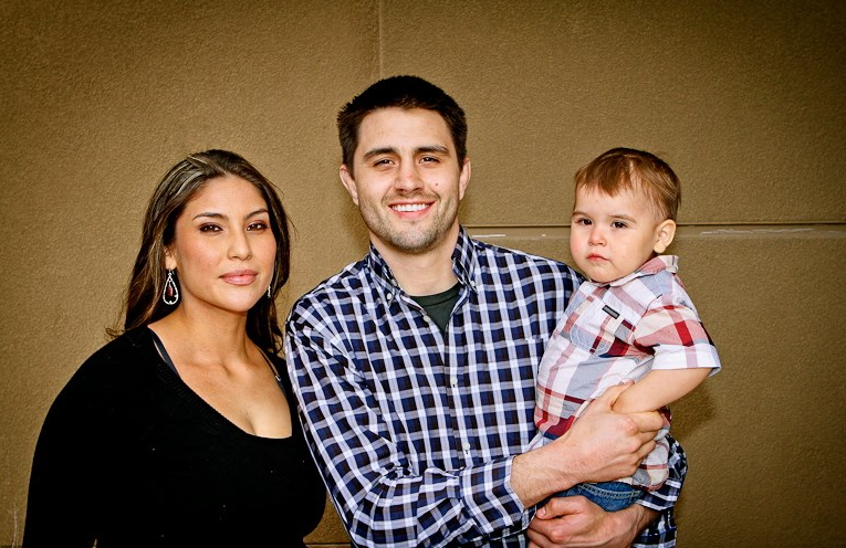 Carlos Condit with his wife, Seager Marie McCullah and their son, Owen