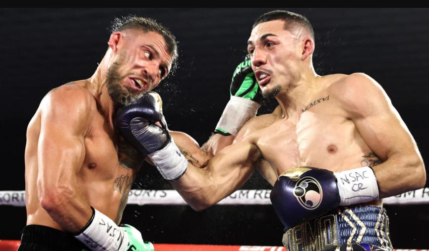 Teofimo Lopez Jr. against Vasiliy Lomachenko