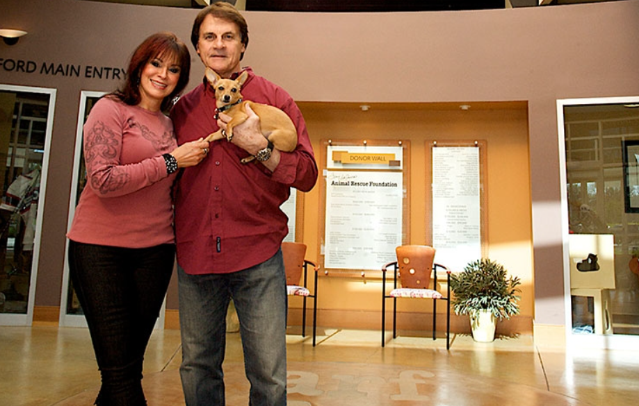Tony La Russa with his wife, Elaine