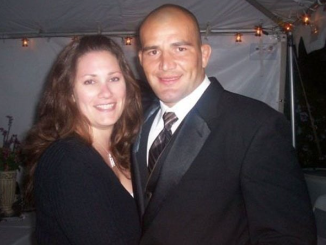 Glover Teixeira and his wife, Ingrid