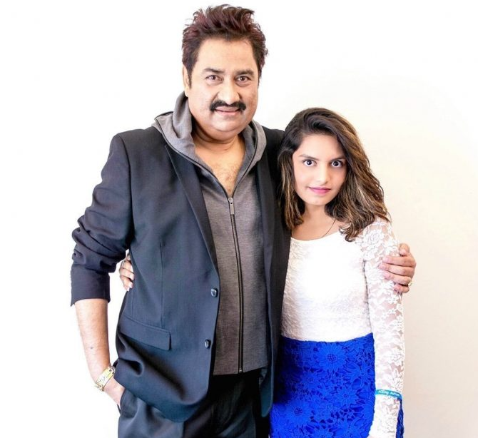 Shannon K with her father, Sanu Kumar