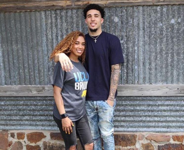 LiAngelo Ball and his girlfriend, Jaden Owens