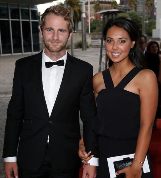 Kane Williamson and his spouse Sarah Raheem