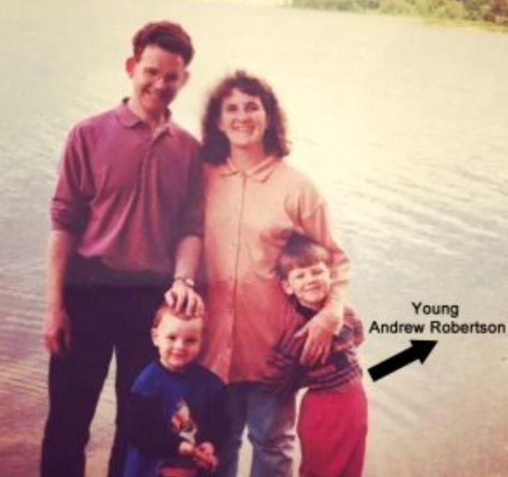 Andrew Robertson family