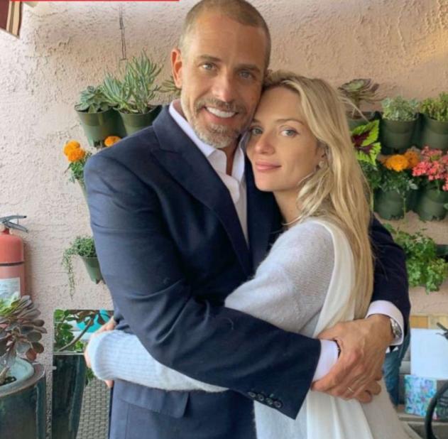 Melissa Cohen with her husband, Hunter Biden