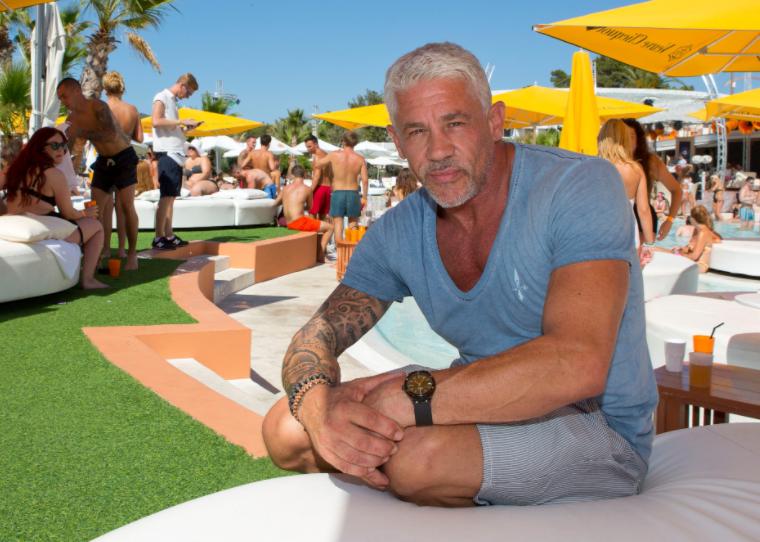 Wayne Lineker in Ibiza's famous Linekers bar