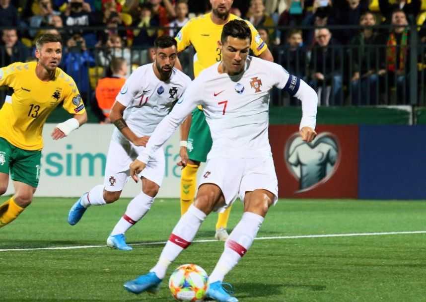 Cristiano Ronaldo Portugal Vs. Lithuania.