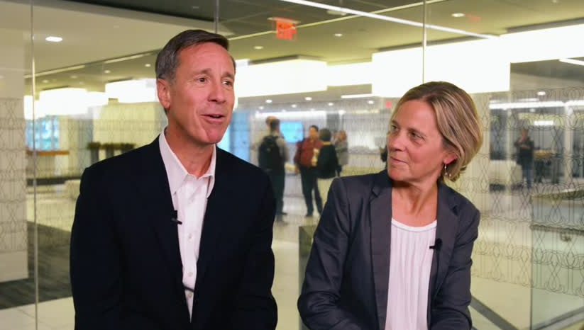 Arne Sorenson and his wife, Ruth Christenson