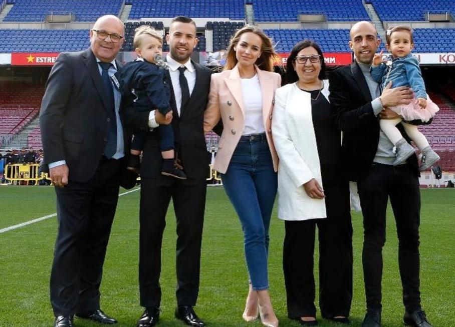 Jordi Alba family
