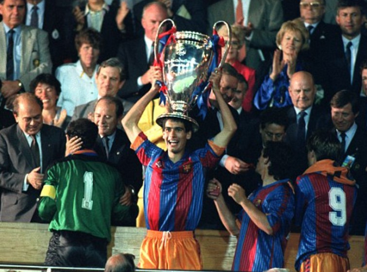 Pep Guardiola European Cup 1992