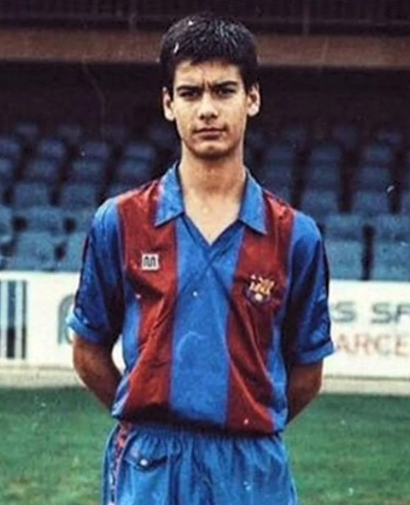 Pep Guardiola young