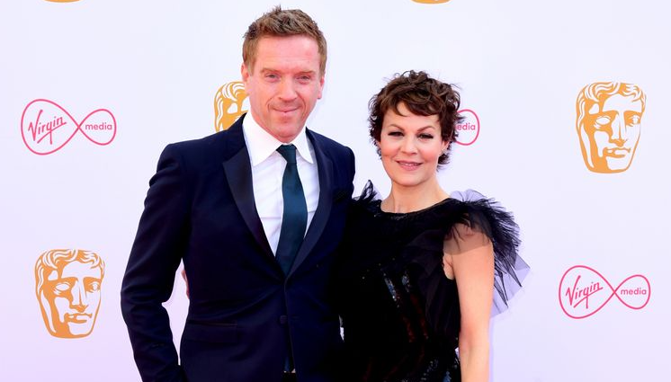 Damian Lewis and his wife, Helen McCrory