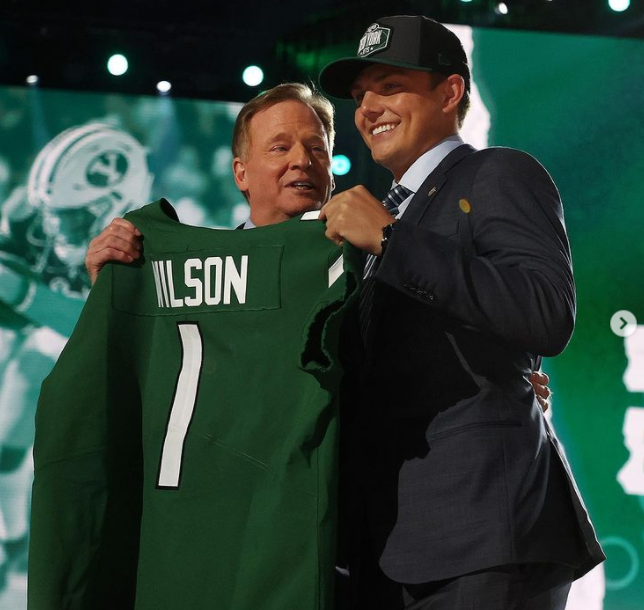 Wilson was selected second overall by the New York Jets in the 2021 NFL Draft