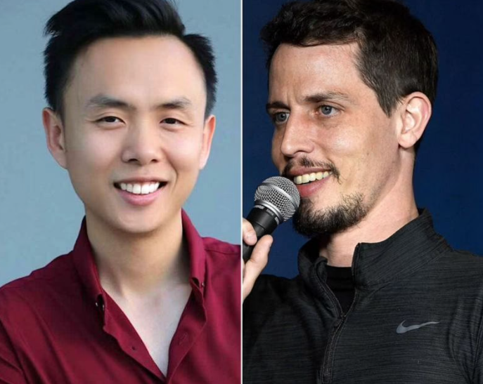 Tony Hinchcliffe (R) was videotaped insulting Peng Dang (L) as of May 2021