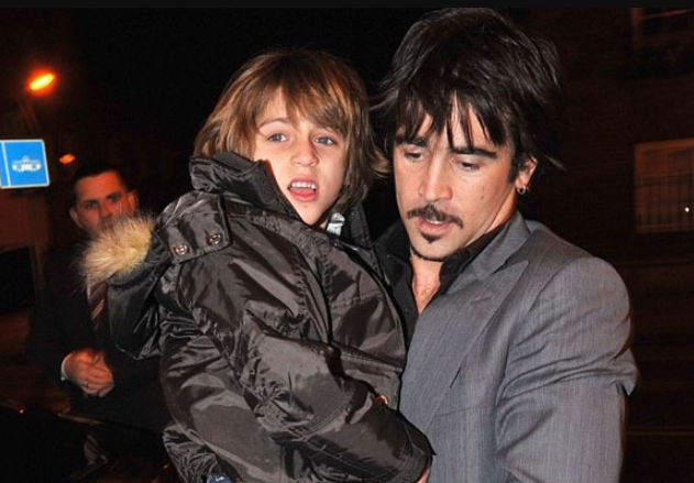 Colin Farrell with his ex-girlfriend, Kim Bordenave's son, James Padraig Farrell