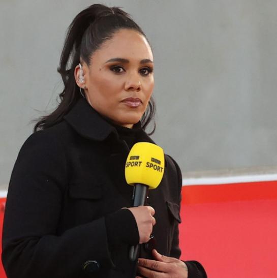 Alex Scott began her career as TV presenter after her retirement from football