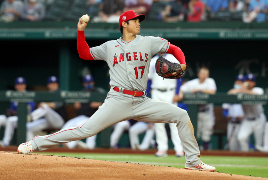 Shohei Ohtani playing for Los Angeles Angels