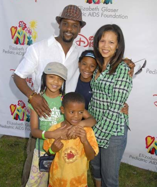 Desiree DaCosta with her husband, Blair Underwood and their kids