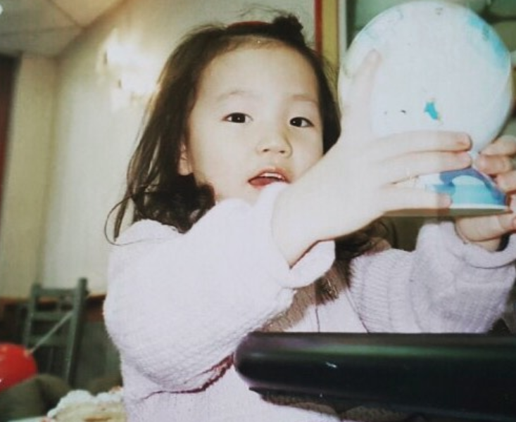 Childhood Picture of Lydia Ko