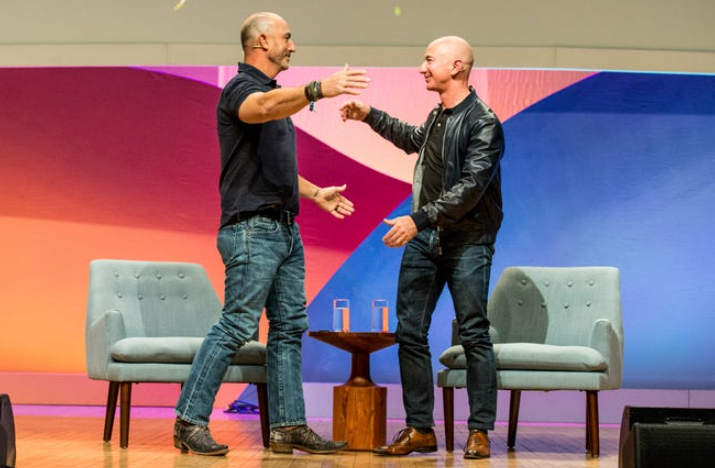 Jeff Bezos and his brother, Mark Bezos will travel to space on Blue Origin's first human flight on 20th July
