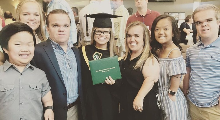 Anna Johnston graduated from her high school in May 2019