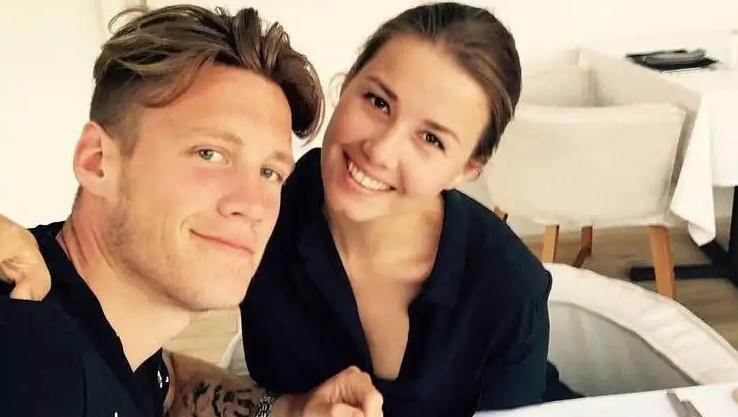 Wout Weghorst and his girlfriend Nikki van Esch