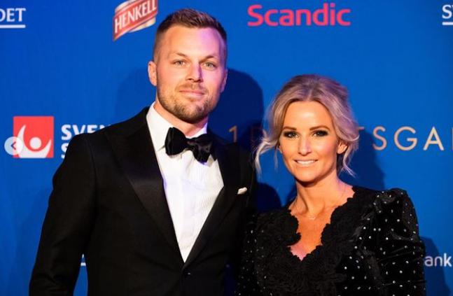 Sebastian Larsson and his wife, Tina Lonnberg