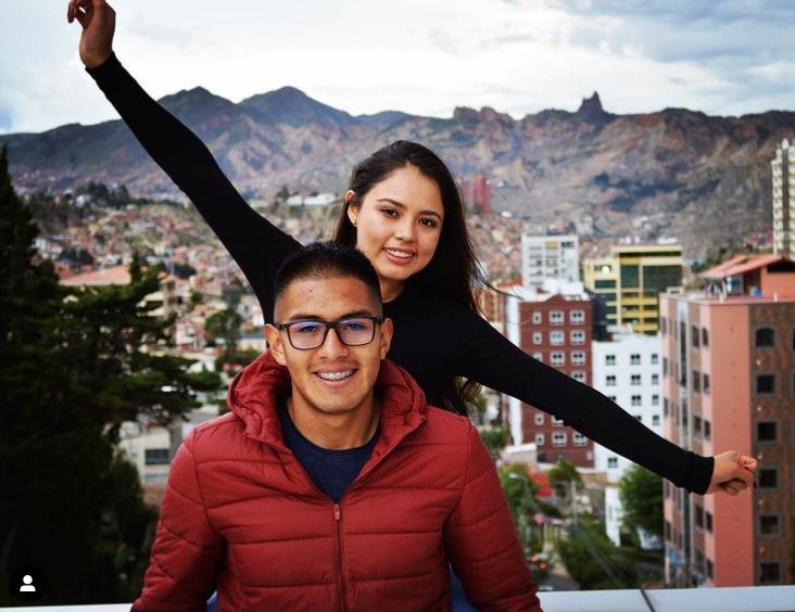 Erwin Saavedra with his wife