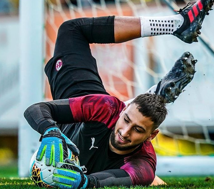Gianluigi Donnarumma trained at the soccer academy of Napoli until the age of 14