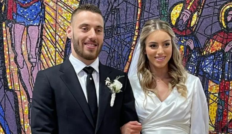 Nikola Vlašić and his longtime girlfriend Ana got married in the church of Sv. Lawrence