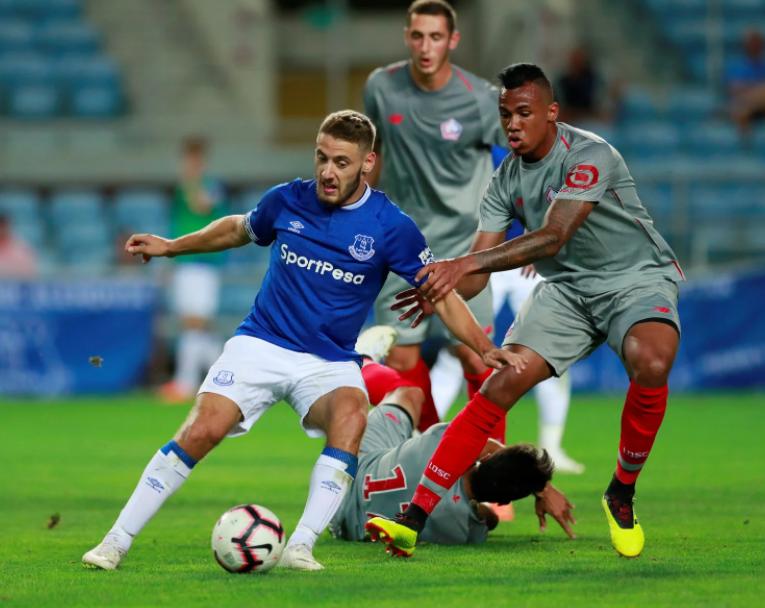 Nikola Vlasic Heading The Ball Against The Opponent