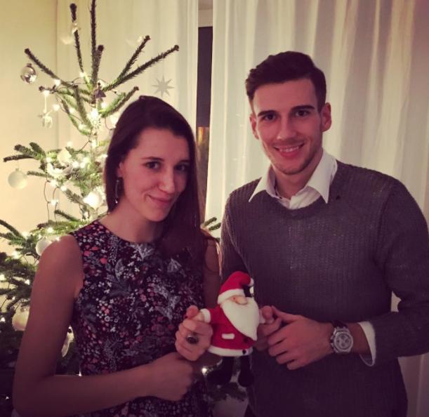 Leon Goretzka and his girlfriend, Mathea Fischer