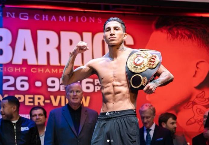 Mario Barrios Holding His Belt