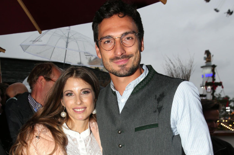 Mats Hummels and his wife, Kathy Fischer