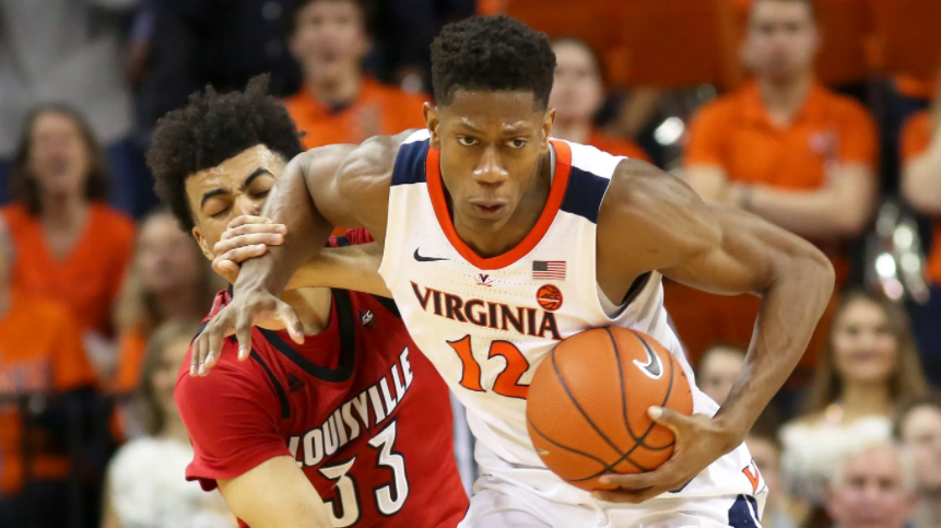 De'Andre Hunter played college basketball for the Virginia Cavaliers and was named NABC Defensive Player of the Year for 2019