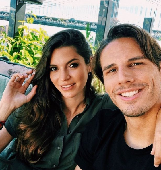 Yann Sommer with his wife, Alina Sommer