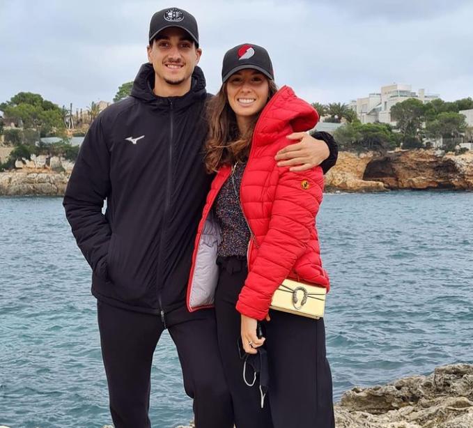 Lorenzo Sonego and his girlfriend, Alice Petruccioli