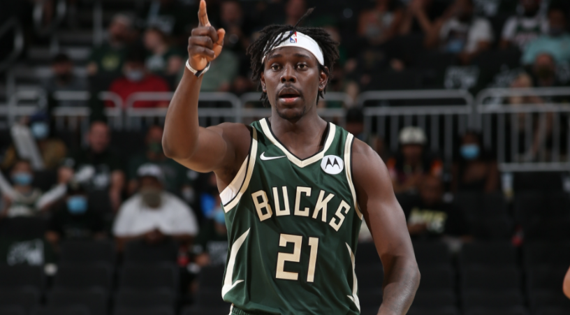 Jrue Holiday is playing for Milwaukee Bucks of the National Basketball Association