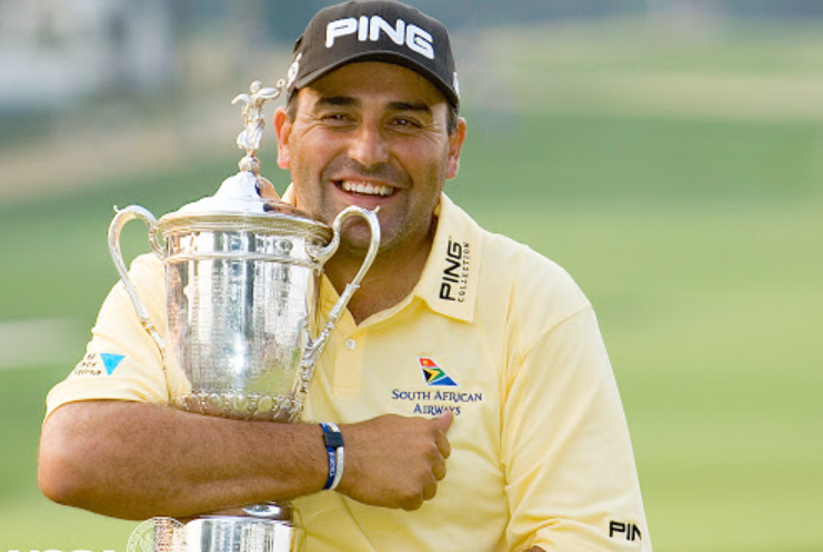 Angel Cabrera with his US Open trophy.