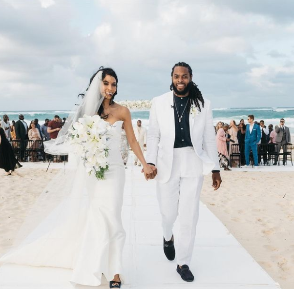 Wedding Picture of Richard Sherman and Ashley Moss