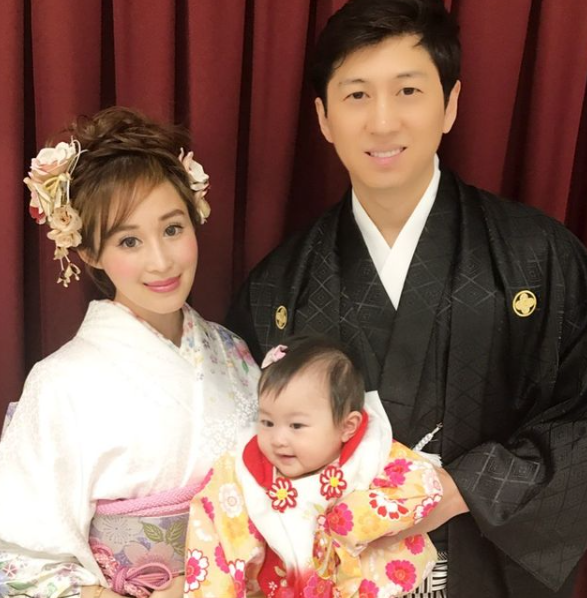 Cherie Chan with her husband, Jessey Lee and their kid