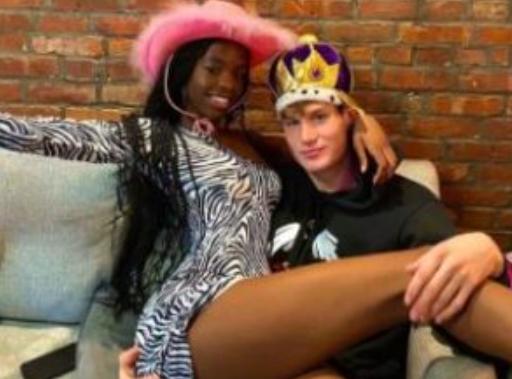 Nanga Awasum and her boyfriend, Jesse