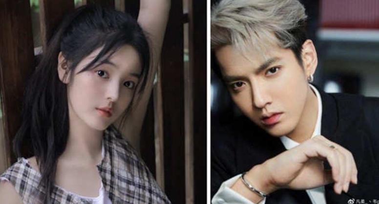 Kris Wu and his girlfriend, Chen Ziyi