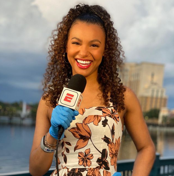 Malika Andrews, American sports journalist and reporter