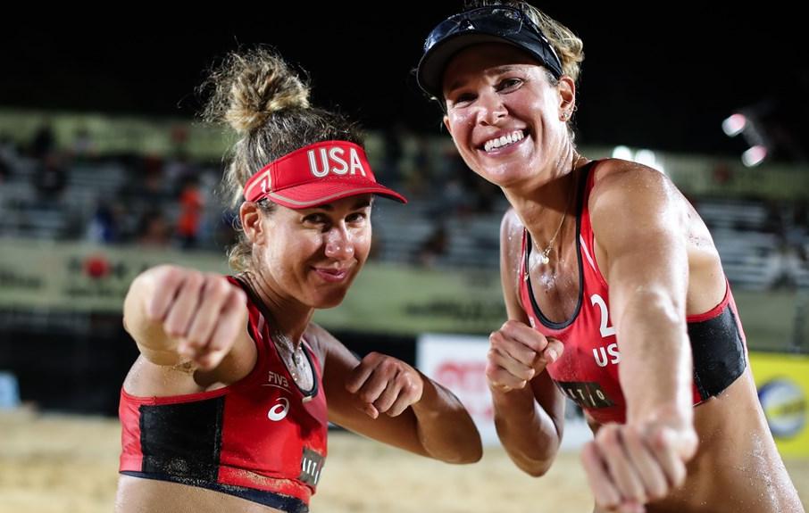 April Ross and her volleyball partner, Alix Klineman