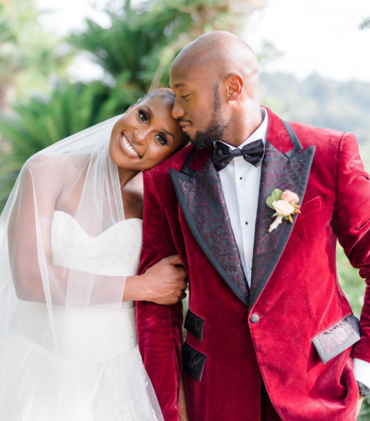 Louis Diame and his wife, Issa Rae