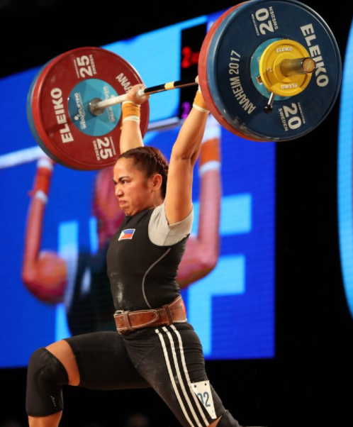 Filipino weightlifter and airwoman, Hidilyn Diaz