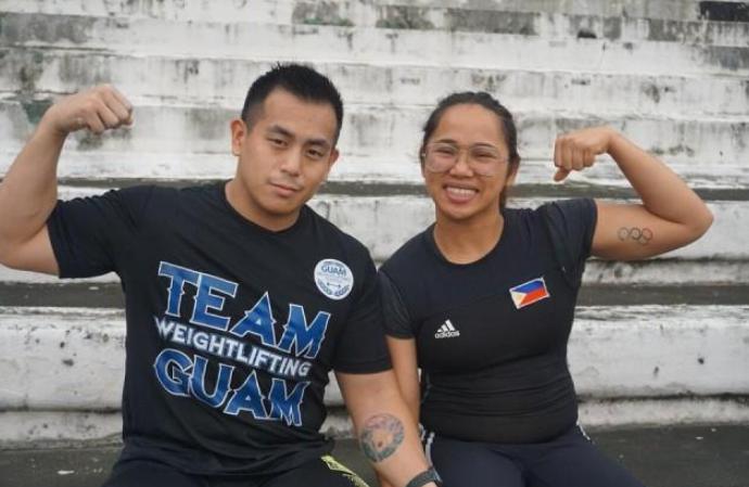 Hidilyn Diaz and her boyfriend, Julius Naranjo