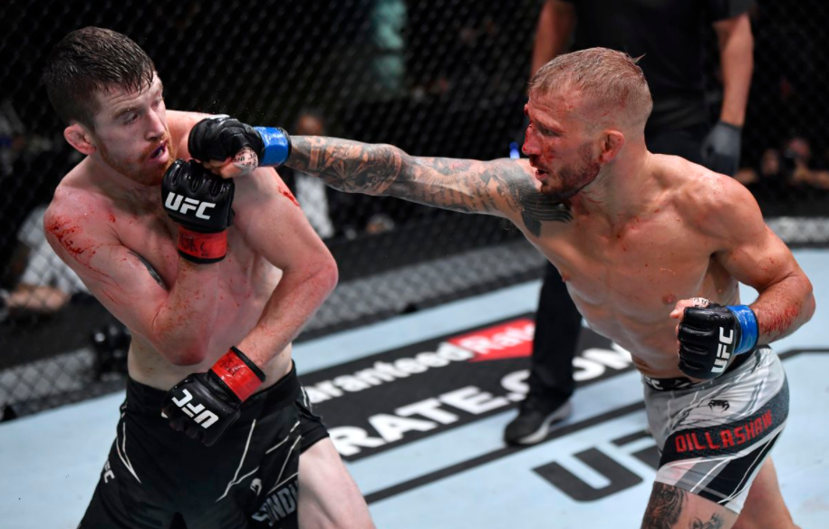 Cory Sandhagen lost to T.J. Dillashaw on 24th July 2021